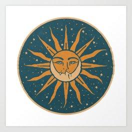 Sun, Moon & Stars Art Print