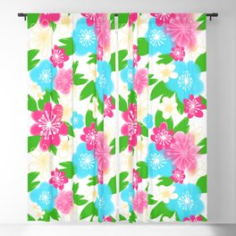 04 Pattern of Watercolor Flowers Blackout Curtain