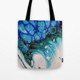 Unique Fluid Pour Acrylic Paint Tote Bag