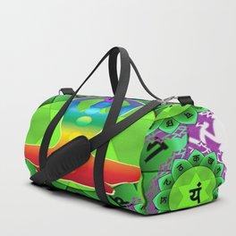 SANSKRIT GREEN HEART CHANTING MANTRA ART Duffle Bag
