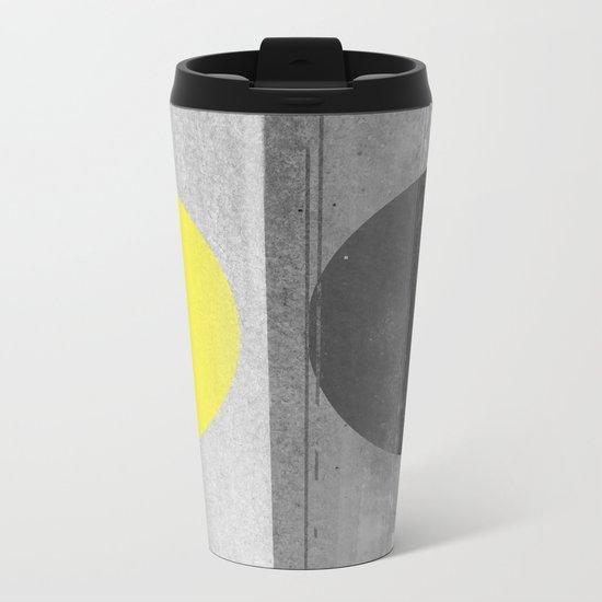 Yellow Metal Travel Mug