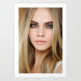 cara delevingne beautiful model  Art Print