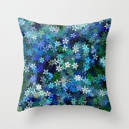 Bluebonnet Flower Garden Throw Pillow