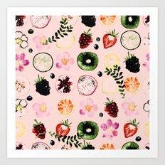 Fruit festival pattern Art Print