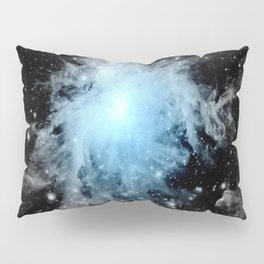 Orion nebULa Black White Blue Space Pillow Sham