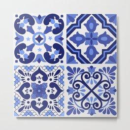 Mediterranean Tiles Design Nº1 Metal Print