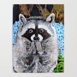 Mischief the Raccoon Poster