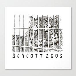 Boycott Zoos Canvas Print