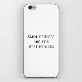 Smol Bookish YA Princes White iPhone Skin