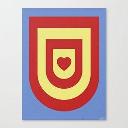 HEART SHIELD Canvas Print