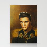 replaceface Stationery Cards featuring Elvis Presley - replaceface by replaceface