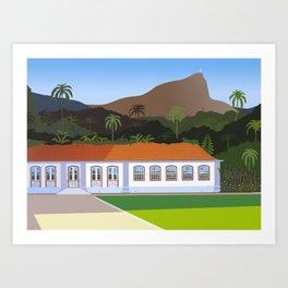 BOTANICAL GARDEN IN RIO DE JANEIRO Art Print