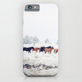 Winter Horse Herd iPhone Case