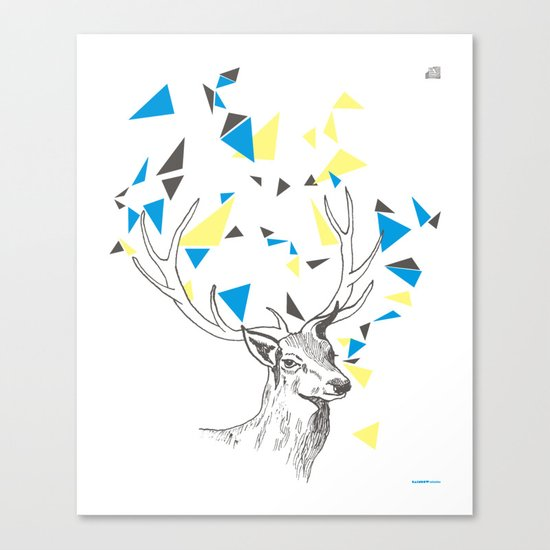 Rainbow Collection / deer Canvas Print