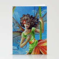 marianna Stationery Cards featuring Marianna - Heliconia Haute Couture by Lauralin Maynard
