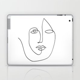 Abstract face One Line Art Laptop & iPad Skin