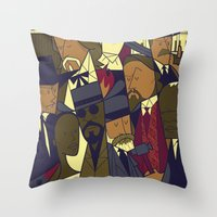 django Throw Pillows featuring Django Unchained by Ale Giorgini