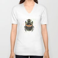 insect V-neck T-shirts featuring INSECT X by dogooder