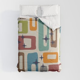 Retro Mid Century Modern Abstract Pattern 224 Comforters