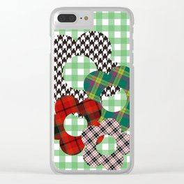 The plaid daisys Clear iPhone Case