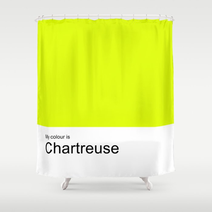 My Colour Is Chartreuse Shower Curtain By Photopictures