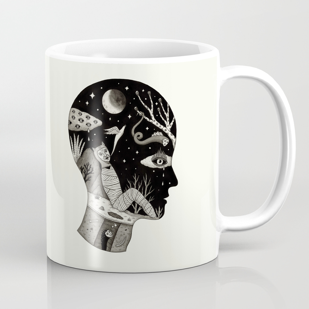 Distorted Recollection Of A Dream About Death Tea Cup by Jonmacnair MUG832782