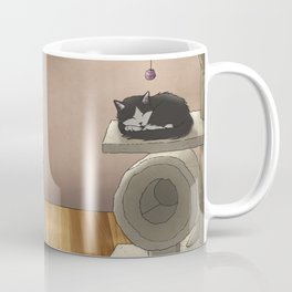 Yoga wit cat Coffee Mug