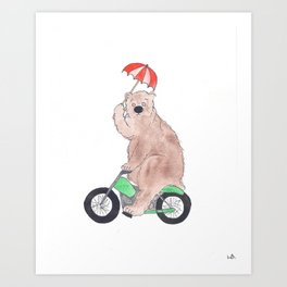 The Bear Rides Art Print