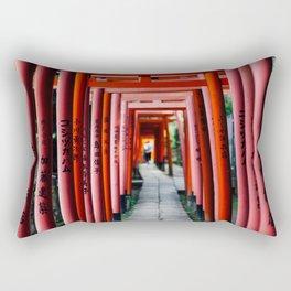 Torii Tunnel Rectangular Pillow