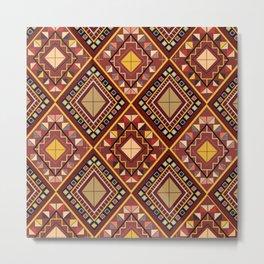 Saputangan - an Indigenous Filipino Tapestry Metal Print