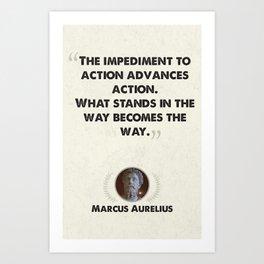 Marcus Aurelius on Obstacles Art Print