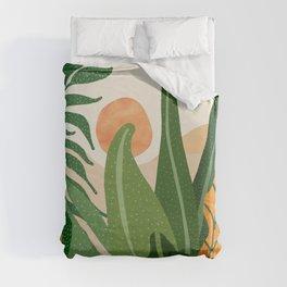 Desert Garden Sunset Duvet Cover