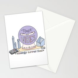 trust your vibes energy never lies — witchy art print Stationery Cards