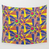 hippy Wall Tapestries featuring Hippy Sun  by MinaSparklina