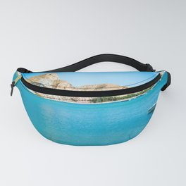 Scenic view on the Cuevas del Almanzora reservoir, Spain Fanny Pack