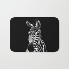 Zebra Black Bath Mat