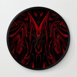 Red Monster Wall Clock