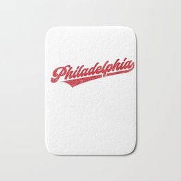 Womens Philadelphia Baseball | Philly Pride Vintage Phillie V-Neck T-Shirt Bath Mat