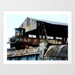 "Old Sugar processing plant ""Coloso"" 6 @ Aguada Art Print"