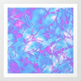 Grunge Art Floral Abstract G171 Art Print