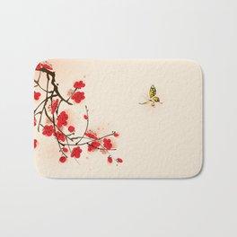 Oriental plum blossom in spring 011 Bath Mat