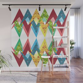 Fragments and patchwork Wall Mural