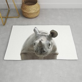 Baby Rhino, Baby Animals Art Print By Synplus Rug
