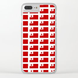 Flag of Tonga -Tonga,Tongatapu,Nukuʻalofa,Tongan,pa'anga,Vava'u, Ha'apai, Tongatapu. Clear iPhone Case
