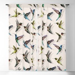 hummingbird pattern Blackout Curtain