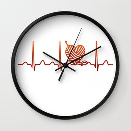Crocheting Heartbeat Wall Clock