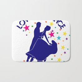 Love to dance Bath Mat