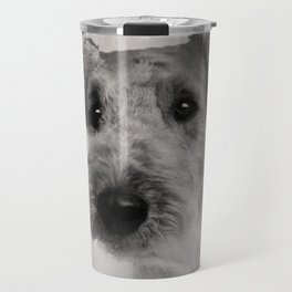 Airedale Terrier Double Exposure Travel Mug