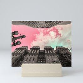Pink sky in Sao Paulo 3 Mini Art Print
