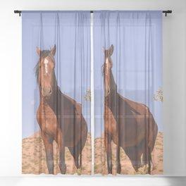 Wild_Horses 3501 - Nevada Sheer Curtain